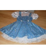 Girl's Size Small 4-6 The Wizard of Oz Dorothy Costume Sequin Dress & Bo... - $32.00
