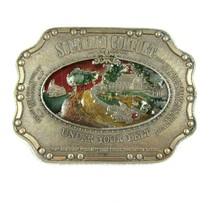 Vintage Southern Comfort Whiskey Belt Buckle Metal & Colored Enamel Kolc... - $19.99