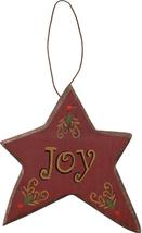 Wood Christmas Ornament  X8160A-Joy Star Ornament - $2.25