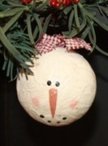 XSGOG - Large Snow Gal Ornament Paper Mache' - $3.50