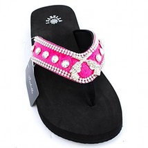 Western Crossed Guns Sandals Rhinestones Wester... - $29.99