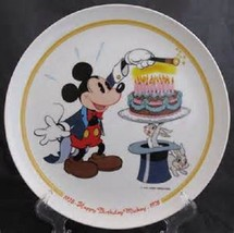 """1978 Disney Schmidt """"Happy Birthday Mickey"""" Limited Edition Collector Plate - $49.99"""