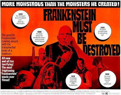 Primary image for Frankenstein Must Be Destroyed - 1969 - Movie Poster
