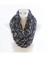SMALL CROSS INFINITY SCARF - BLACK - £15.45 GBP