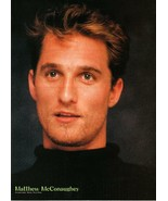 Matthew Mcconaughey teen magazine pinup clipping 1990's double sided tir... - $3.50