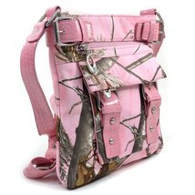 Realtree Pink Purse Womens Cross Body Messenger Bag Licensed - $35.95