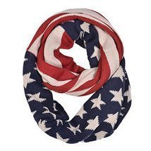 American Flag Motive Knit Infinity Scarf - ₨885.65 INR