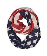 American Flag Motive Knit Infinity Scarf - $12.00