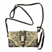 2015 Rhinestone Buckle Embroidered Messenger Bag Style Wallet, Use for D... - $15.00