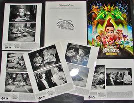 2001 JIMMY NEUTRON BOY GENIUS Movie Press Kit Folder, 5 Photos, Producti... - $28.49