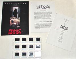 2002 PANIC ROOM Movie Press Kit Folder, 12 Slide Captions, Production Info - $24.69