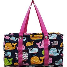 Sea Summer Whale Print Large Utility Bag - $35.00
