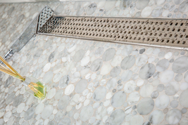Royal Linear Shower Drain Traditional Square 39 Stainless Steelby Serene... - $339.00