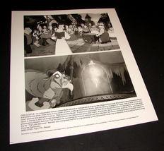 1991 Walt Disney Movie Beauty And The Beast Press Photo Belle Villagers Beast - $10.99