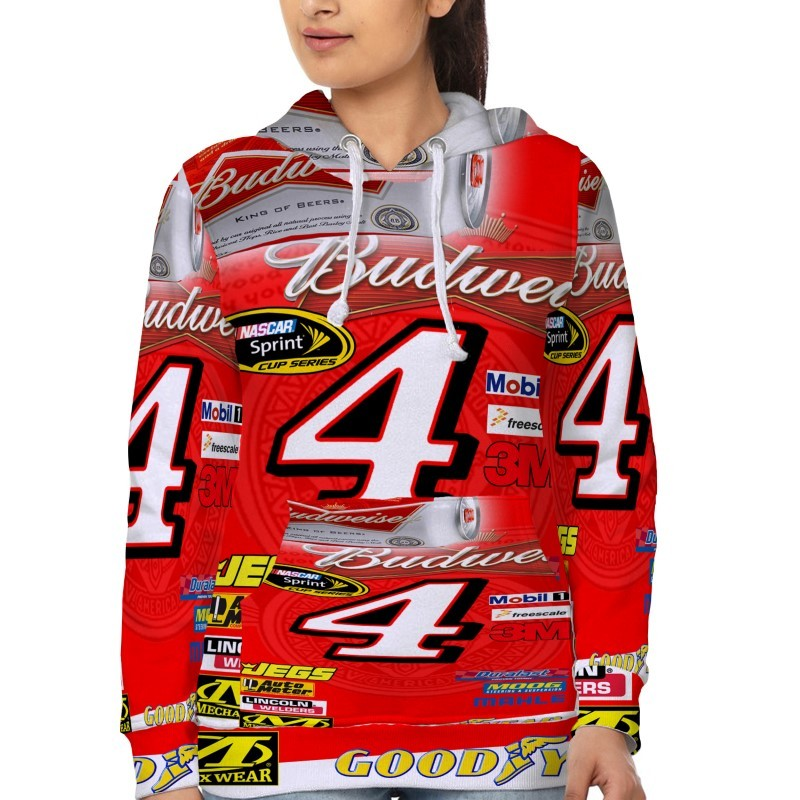 Kevin Harvick Nascar   Hoodie Fullprint for women