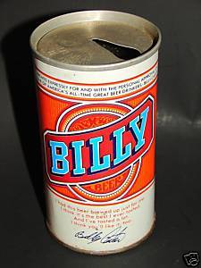 Vintage BILLY BEER Steel Can Jimmy Carter No Tab