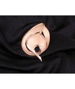 Trifari Goldtone Stylized Leaf Pin Brooch Vintage - $28.73