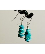 Turquoise 100% Natural Arizona Mined Blue/Green Earrings w/ Sterling Sil... - $25.95+