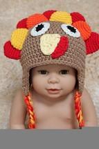Handmade Tom Turkey Baby Knit Crochet Hat Newborn Photo Prop Thanksgivin... - $9.74+