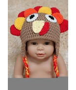 Handmade Tom Turkey Baby Knit Crochet Hat Newborn Photo Prop Thanksgivin... - $9.74+
