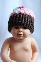 New Cute Pink Cake Flower Newborn Baby Child Girls Boy Knit Hat Cap Phot... - $8.79