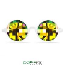 GloFX White Kaleidoscope Glasses Rainbow Bug Eye Flat Back Prism Lightshow Rave - $31.99