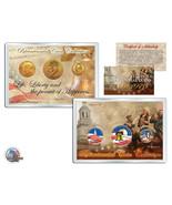 """1776-1976 BICENTENNIAL 24KT GOLD """"3"""" COIN SET! JFK/IKE HALF DOLLARS & QU... - $24.49"""