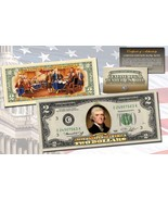 "1976 BICENTENNIAL ""DECLARATION OF INDEPENDENCE"" COLORIZED $2 BILL! W/H COA! - $24.49"