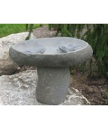 Stone Age Creations BB-FR-5 Frog Boulder Birdbath Natural Stone Small - $511.84