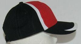Augusta Sportswear Six Panel Red Black White Hook Loop Adjustable 6290 Adult image 3
