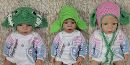 Handmade Master Yoda Hat Knit Crochet Baby Hat Newborn Photo Prop Star W... - $8.79+