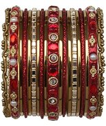 Indian Bangles for Kids Chicklet Red Size 2.0 - $7.99