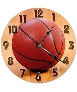 """Sugar Vine Art Basketball Clock Unique Clock Large 10.5"""" Wall Clock Deco... - $21.59"""