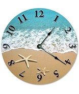 "Sugar Vine Art Starfish at Shoreline Beach Clock Large 10.5"" Wall Clock ... - $21.59"