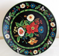 "Vera Bradley 12"" Black Floral Decorative Pottery Plate My Home Andrea by... - $24.74"