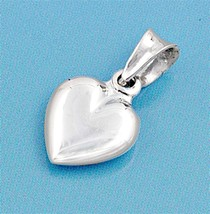 Sterling Silver Heart pendant Love Charm Kids Ladies Girls Cute Tiny New... - $6.88
