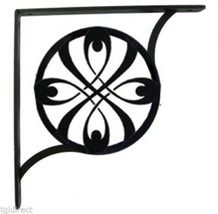 "Wall Shelf Bracket Pair Of 2 Ribbon Pattern Wrought Iron 9.25"" L Craftin... - $49.99"