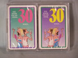 YOU KNOW YOU'RE OVER 30 WHEN ... playing cards - 2 Decks in 1 plastic case - $9.45