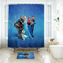 Cartoon 08 Shower Curtain Waterproof Polyester Fabric & Bath Mat For Bathroom - $16.30+