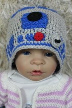 Handmade R2D2 Hat Knit Crochet Hat Baby Hat Child Hat Star Wars Hat Newb... - $9.99