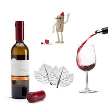 Home Wine Gifts Kit Funky Design Set x 3 Fine Vine poure Corkers Robot B... - $54.00