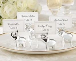 4 Lucky in Love Elephant Place Card Holders Photo Holder Wedding Favor P... - $8.89