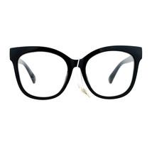 Womens Clear Lens Glasses Super Oversized Square Butterfly Frame UV 400 - $9.85