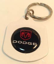 White DODGE  Logo Keychain ~ DODGE~ Porte-Cle E... - $6.90