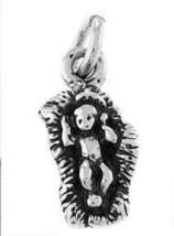 STERLING SILVER BABY JESUS IN MANGER CHARM / PENDANT - $8.59