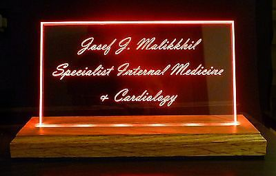 Personalized LED Name Plates, Business Sign, powered by PC, Battery, USB adapter image 2