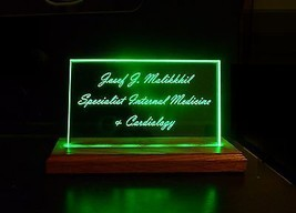 Personalized LED Name Plates, Business Sign, powered by PC, Battery, USB adapter image 4