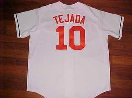 Majestic MLB AL East Baltimore Orioles Miguel Tejada 10 White Orange Jer... - $59.39