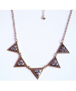 Glitter Rivets Studding Triangle Cluster Alloy Necklace(Golden) - $8.99