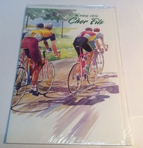 SEALED vintage French Canadian  Birthday greeting card/ Carte De Fête - $7.58